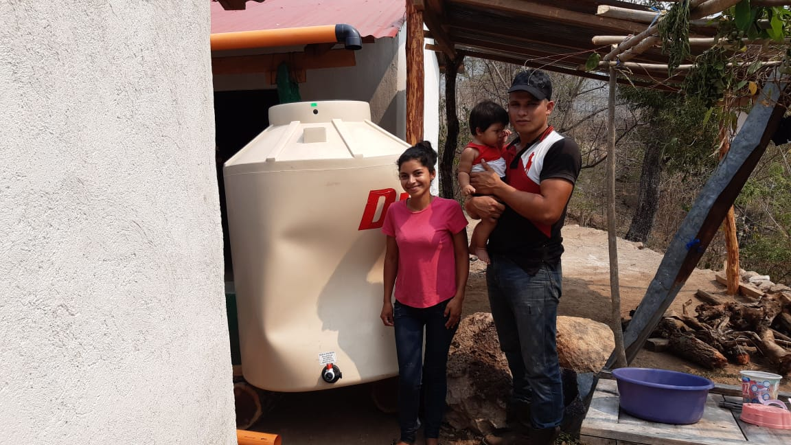 Water tank for a family